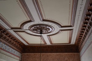 Vista de la restauración del falso techo