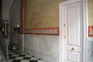 Vista de los paramentos del vestíbulo restaurados