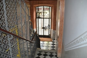 Vista de la rehabilitación del vestíbulo