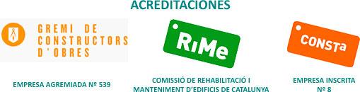 Acreditaciones de Arla BCN Rehabilitació