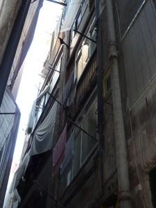 Vista del estado inicial de la fachada posterior