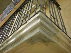 Detalle del refuerzo con cemento monotop