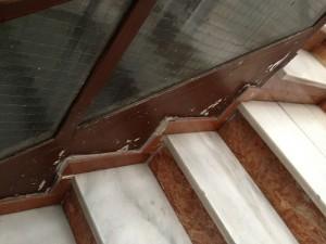 Detalle del estado inicial de las escaleras
