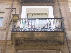 Detalle del estado inicial de los balcones