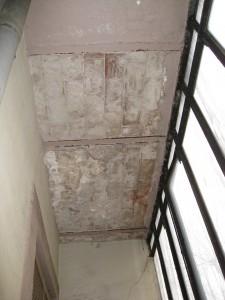 Detalle del estado inicial de las losas de balcón