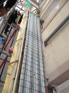 Detalle de la losa de balcón con chapa colaborante