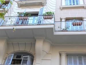 Detalle del canto de balcón rehabilitado