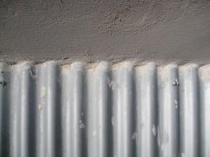 Detalle de los paneles de chapa de aluminio
