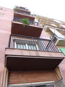 Estado inicial de los balcones de fachada posterior