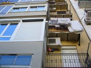 Vista de la rehabilitación de fachada posterior