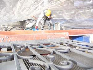 Vista de los trabajos verticales empleados